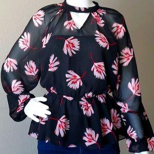 Express floral blouse